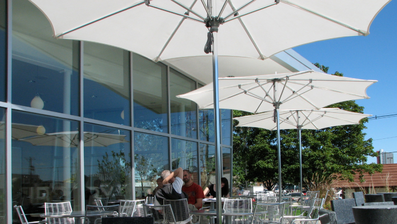Café patio seating