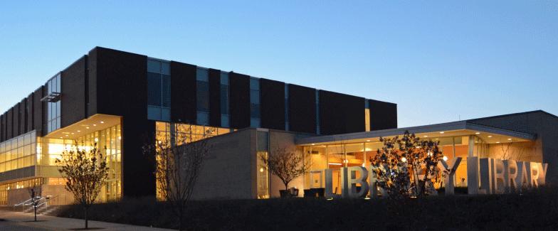Main Library at dusk